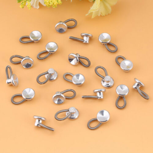6Pcs Collar Extender Button Dress Metal Coat Collar Accessories Trouser Clothing