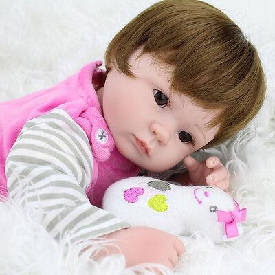 Realistic Handmade Baby Dolls Girl Newborn Lifelike Vinyl Alive Reborn Baby Doll 7