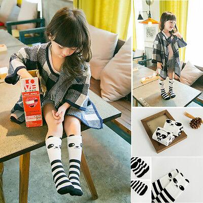 Baby Kids Toddlers Panda Girls Knee High Socks Tights Leg Warmer Stockings 2