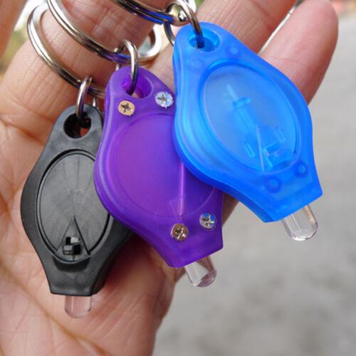 2x EDC Mini Flashlight LED Light Torch Keyring Key Chain Keychain Camping LadeG 2