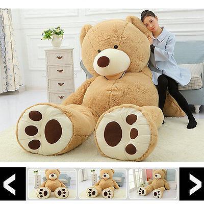 "78/"" Giant Sleepy Teddy Bear Case No Pp Cotton Huge Stuffed Toy Dolls 200cm 6.5ft"
