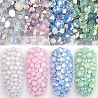 Multi Size Opal Jelly Nail Rhinestones Crystal Glass Gems For UV Gel 3D Nail Art 2