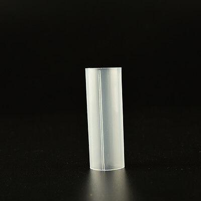 3 Pcs Plastic 18650 Battery Tube For Flashlight Torch Lamp Light White 6cm ZY