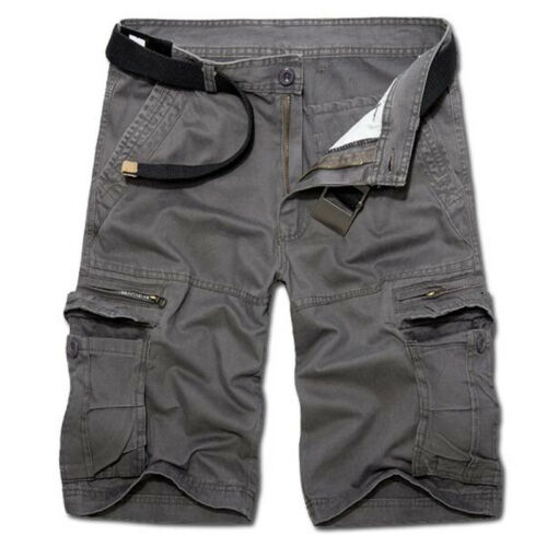 Mens Army Cargo Shorts Work Camping Fishing Camouflage Outdoor Pants Trousers 5