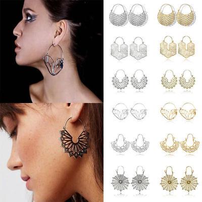 Fashion Bohemia Jewelry Vintage Silver Ear Hook Drop Dangle Tassel Bead Earrings 5