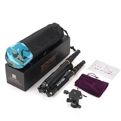 ZOMEI Q666c Carbon Fiber Tripod monopod&BallHead for Canon Nikon DSLR Camera DV