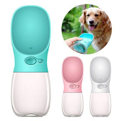 Potable Pet Water Bottle Dispenser Dog&Cat 350&500ML Travel Drinking Water Bowl 12