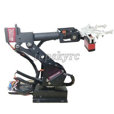 SZ Top Assembled 6DOF Robot Arm Clamp Set DIY Robotic Kit W/ Large Torque Servo 4