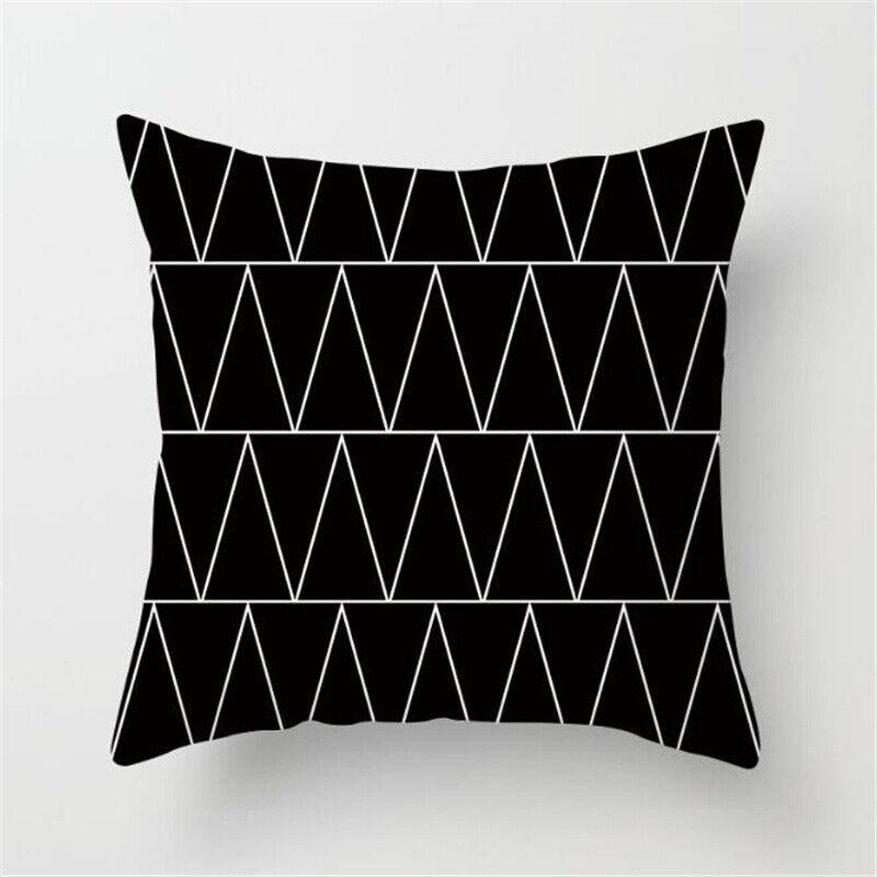 Schwarz und Weiß Geometrisch Kissenhülle Bezug Kissenbezüge Huas Sofa Dekoration