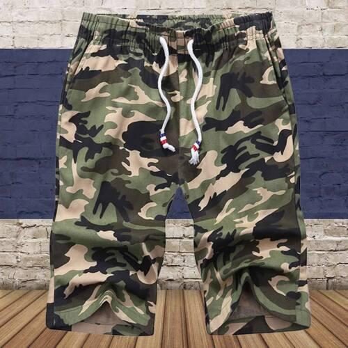 Homme Short Plage Coton Camouflage Décontracté Vacance Sommeil Pyjama Sport Mode 2