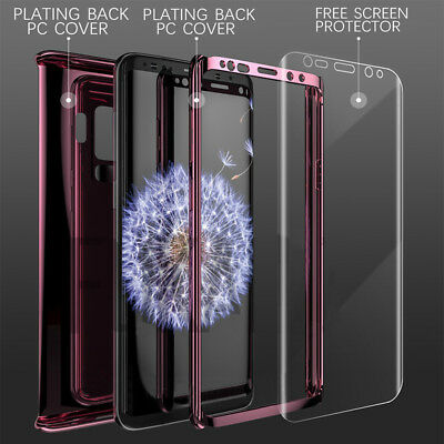 For Samsung S8 S9 S10 S10E Case Luxury 360 Hard Shockproof Case+Screen Protector 2