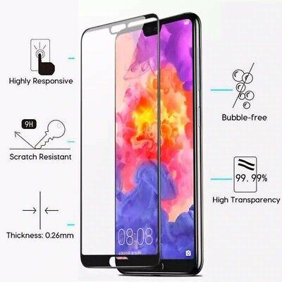 Huawei P20 verre trempé intégrale écran 100% couvert protection totale 6
