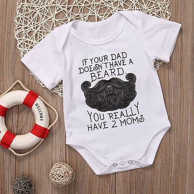 c783934f9 ... Summer Baby Shirt Cotton Newborn Baby Boy Girl Funny Romper Clothes  Outfits US 4