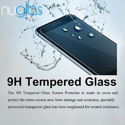 2x Nuglas Tempered Glass Screen Protector For iPhone XS Max X 8 7 6 6S Plus 9