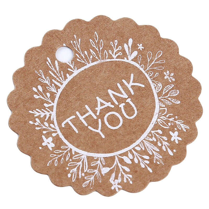Kraft Paper Hang Tags Wedding Party Favor Label Thank you Gift Cards T 3