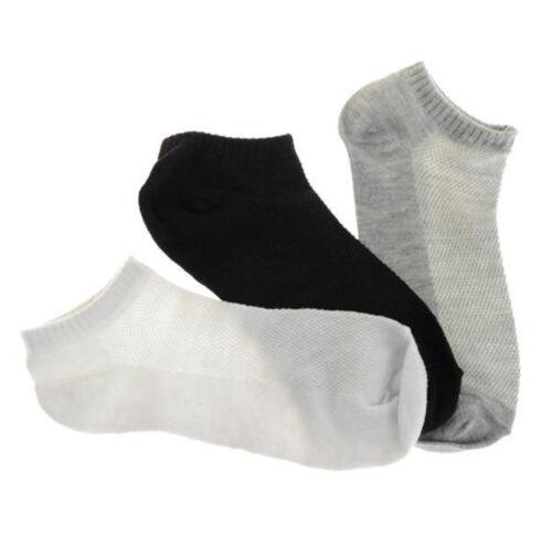 WHOLESAL! 5-12 Packs Ankle Socks Cotton Mens Womens Low Cut Dozen Stretch RR US 5