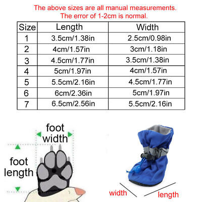 4Pcs/set Dog Boots Shoes Anti Slip Waterproof Puppy Rain Pet Small Cat Pet Socks 6