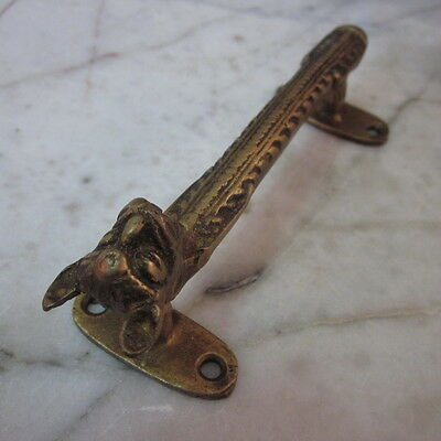 Antique Door wardrobe Handles Brass Cupboard Puller Vintage Cat Nefertiti Egypt 8