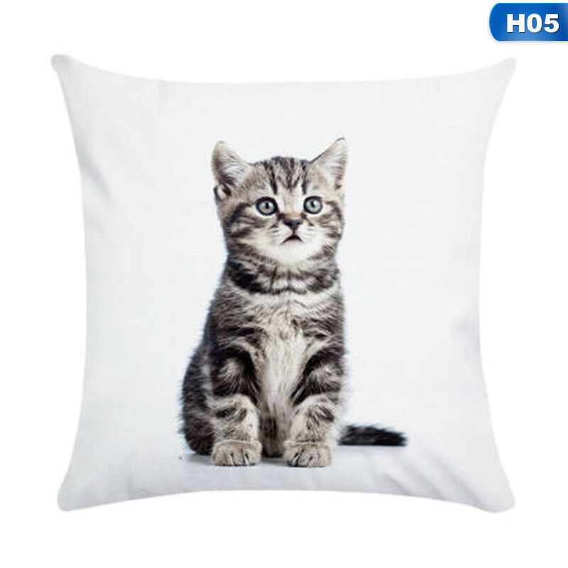 1X Animal Cute Cat Pillow Case Pet Cushion Cover For Home Pillowcase Decorations 6