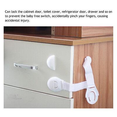 10X Kids Child Baby Proofing Safety Lock Door Fridge Cupboard Cabinet Drawer Pet 7
