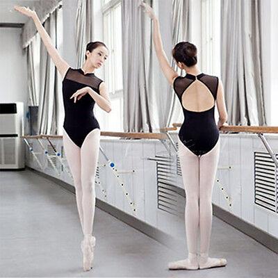 Adult Girl Woman Ballet Dance Leotard Gymnastic Sleeveless Cotton Lace 2 Colour