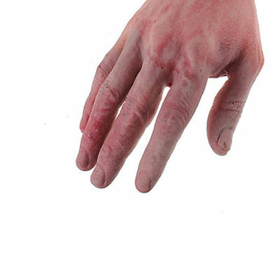 1Pair Bloody Horror Scary Halloween Props Fake Severed Arm Hand Haunted Decor US 6