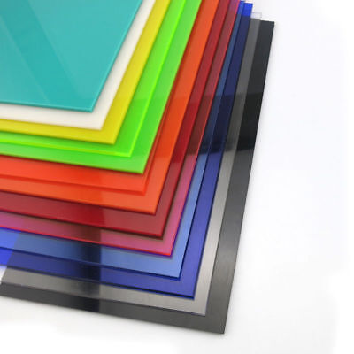 Color Acrylic Sheet Plate Plastic Plexiglass Panel 8x8/10x20/15x15/20x20/30x40cm 9