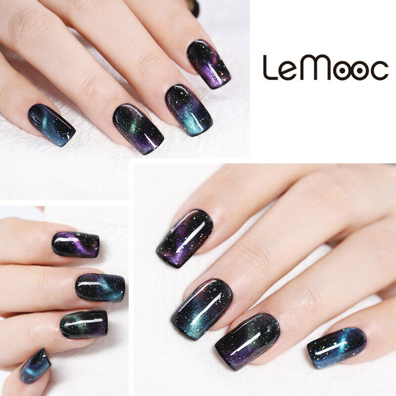 Multi-Colors LEMOOC Thermal Gel Polish Nail Art Soak off Magnetic Gel UV LED 8ml 10