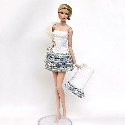 1set High Fashion Doll Clothes for 1/6 Doll Outfits Top Shirt & Skirt & Shawl 7