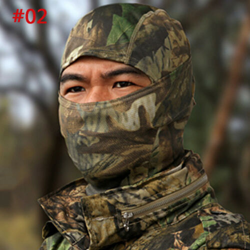 Camouflage Full Face Mask Balaclava Motorcycle Windproof Hunting Outdoor