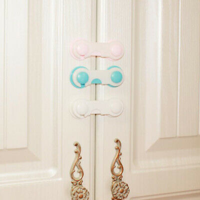 5x Baby Child Cupboard Cabinet Safety Locks Pet Proofing Door Drawer Fridge Kids 2