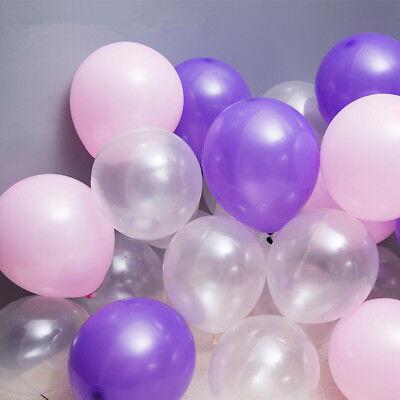 100Pcs Colorful Pearl Latex Balloon Celebration Party Wedding Birthday 10 inch 9