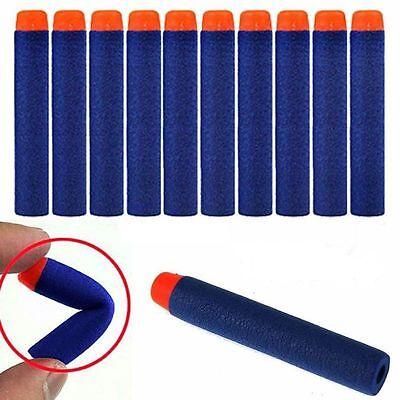 100pcs Bullet Darts For NERF Kids Toy Gun N-Strike Round Head Blasters #S Blue 3