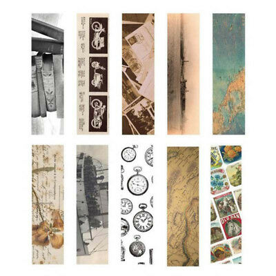 30pcs/Box Vintage Bookmark Paper Book Mark Magazine Label Memo Office Stationery 8