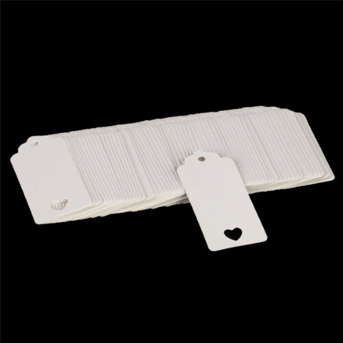 100pcs Blank Kraft Paper Hang Tags Wedding Party Favor Label Price Gift Card SS 2