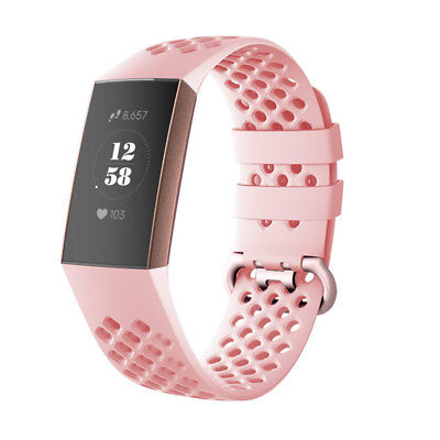 For Fitbit Charge 3 Watch Band Replacement Silicone Breathable Wrist Bracelet 10