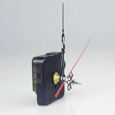 Black Quartz Clock Movement 3 Pointers Mechanism Repair DIY Tool Kit + Red Hand 4
