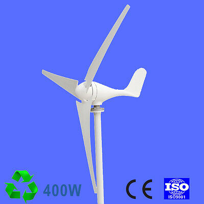 400W WIND TURBINE Generator DC 12V 24V 3/5 Blade with windmill Charge  Controller