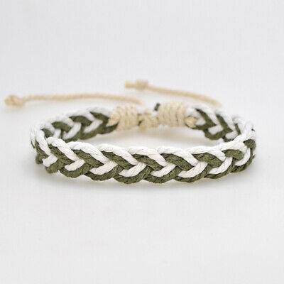 Fashion Girl's Hemp Rope Weave Bracelet Simple Accessories Jewelry Gift 10