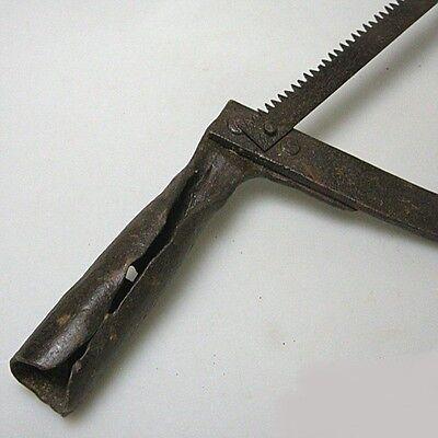 Antike Stielsäge Säge Stielwerkzeug Eisen unrestauriert ca.50 cm 3