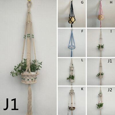 Pot Holder Macrame Plant Hanger Hanging Planter Basket Jute Rope Braided Craft