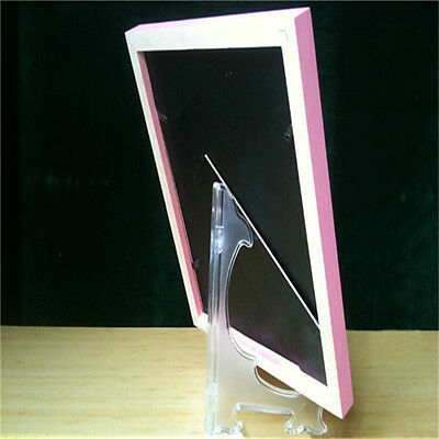 CLEAR DISPLAY EASEL Rack Stand Plate Picture Frame Holder Small ...