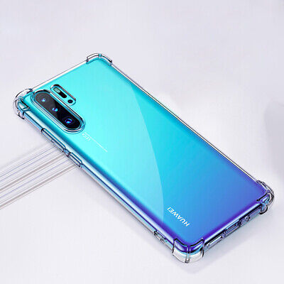For Huawei P30 Pro Mate 20 Transparent Airbag Shockproof Silicone Case Cover 12