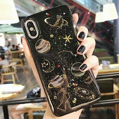 Phone Case For iPhone 6 6S 7 8 Plus Shockproof Cute Planet Moon Star Case Cover 6