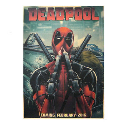 Avengers Deadpool Retro Kraft Paper Poster Cafe Bar Room Decor Painting Picture 4