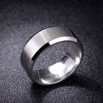 Titanium Stainless Steel 8mm Brushed Finish Men Women Wedding Band Spinner Ring 8