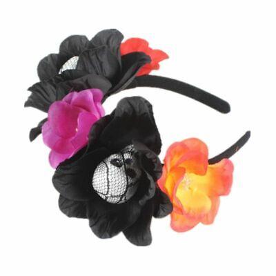 Halloween The Dead Flower Crown Headband Womens Horror Foam Skull Hair Hoop 11