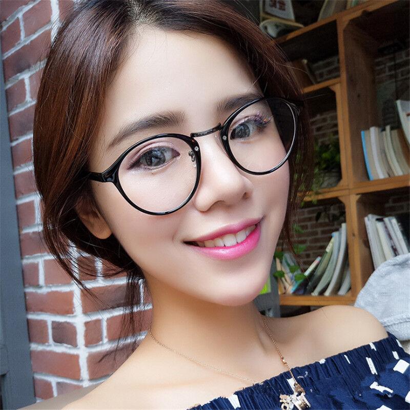 Unisex Vintage Clear Lens Eyeglasses Frame Retro Round Men Women Glasses YK 2