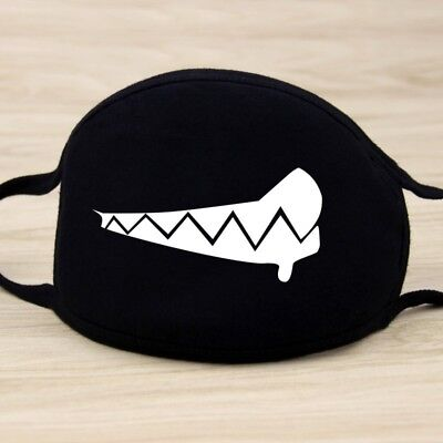 Adults Black Cute Anime Emoticon Mouth Muffle Anti Dust Korea Cotton face mask 12