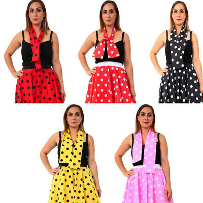 Polka Dot 50's Grease Style Neck Tie Scarf 2